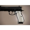 Hogue CZ-75/CZ-85 Grips Checkered Aluminum Brushed Gloss Clear Anodized