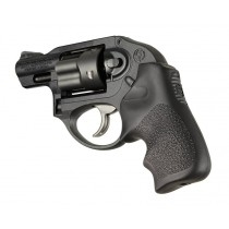 Hogue Ruger LCR Grip Tamer, Rubber Finger Grooves, Black