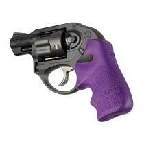 Hogue Ruger LCR Grip Tamer, Rubber Finger Grooves, Purple