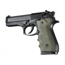 Hogue Beretta 92/96 Grip with Finger Grooves Olive Drab Green