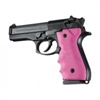 Hogue Beretta 92/96 Grip with Finger Grooves Pink