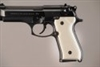 Hogue Beretta 92/96 Polymer Grip Panels Ivory