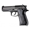 Hogue Beretta 92 Grips Flame Aluminum Black Anodized