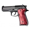 Hogue Beretta 92 Grips Flame Aluminum, Red Anodized