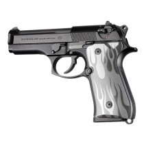 Hogue Beretta 92 Grip Flame Aluminum Clear Anodized