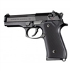 Hogue Beretta 92 Grips Checkered Aluminum Matte Black Anodized