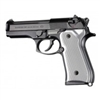 Hogue Beretta 92 Grips Checkered Aluminum Brushed Gloss Clear Anodized