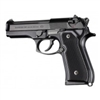 Hogue Beretta 92 Grips Checkered Aluminum Brushed Gloss Black Anodized