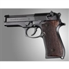 Hogue Beretta 92 Grips Rosewood Checkered