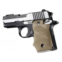 Hogue Sig P938 Ambi FDE Rubber Grip w/ Finger Grooves