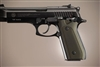 Hogue Taurus PT99+ Grips w/Decocker Checkered Aluminum Matte Green Anodized