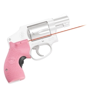 Crimson Trace Smith and Wesson J-Frame Round Butt Lasergrip, Front Activation-Pink