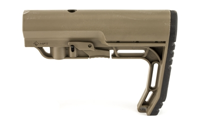 Mission First Tactical, Battlelink, Minimalist, Stock, 6 Position, Mil Spec, M4 Collapsible Stock, Scorched Dark Earth Finish