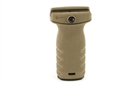 Mission First Tactical, React Short Picatinny Mounted Vertical Pistol Grip, Scorched Dark Earth