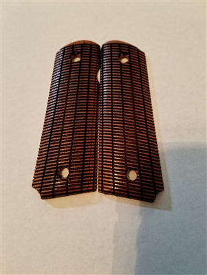 Morning Wood Custom Grips Cherry Linear Etched for 1911 Full Size and Government Models