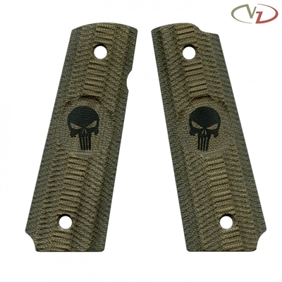 VZ Grips Alien Green Canvas Punisher Engraving Standard Grip