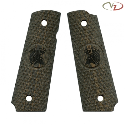 VZ Grips Diamond Back Green Black Linen Molon # 1 Engraving Standard Grip