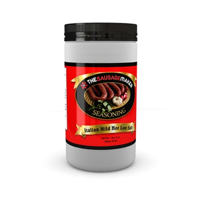 Low Salt Mild-Hot Italian Sausage Seasoning, 1 lb. 8 oz.