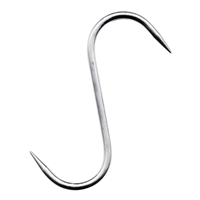 "Stainless Steel ""S"" Hook, 6"" x 6mm, Set of 3"