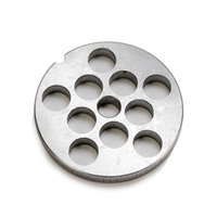 "#8 Stainless Steel 1/2"" Grinder Plate"
