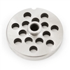 "#10/12 Stainless Steel 3/8"" Grinder Plate with Hub"