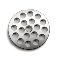 "#22 Stainless Steel 1/2"" Grinder Plate"