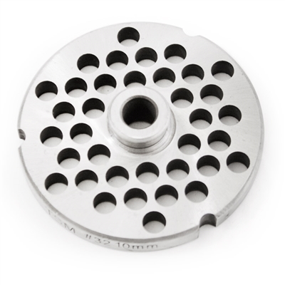 "#32 Stainless Steel 3/8"" Grinder Plate with Hub"