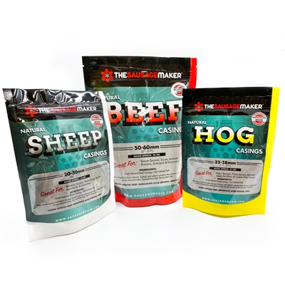 Natural Casings Variety Pack (Beef, Hog, Sheep)