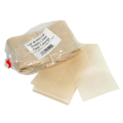 "61mm (2 3/8"") x 24"" Clear Fibrous Protein-Lined Casings (10pcs)"