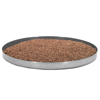 "Stainless Steel Sawdust Pan, 12"" Diameter"