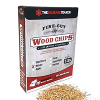 Hickory Woodchips, Fine Cut, 5 lb. Box