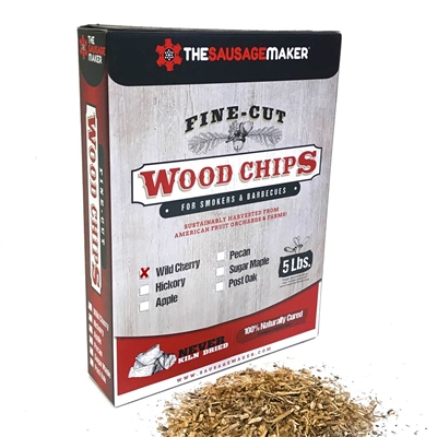 Wild Cherry Woodchips, Fine Cut, 5 lb. Box