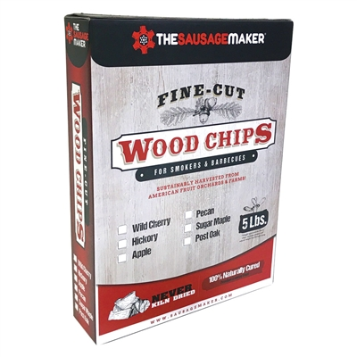 Sassafras Woodchips, Fine Cut, 5 lb. Box