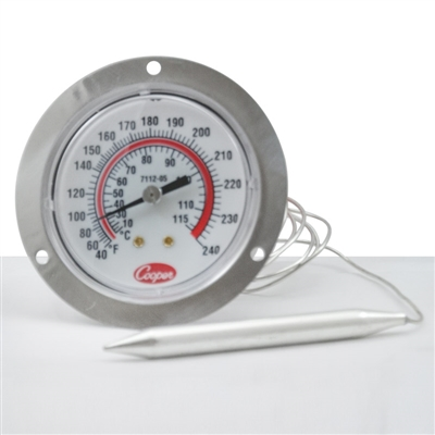 "2 1/2"" Dial Thermometer with 4 ft. Cable"