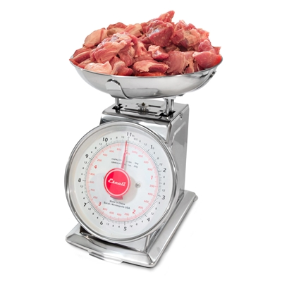 11 lb. Dial Scale with Stainless Steel Bowl