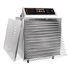 D-14 Digital Touch Screen Food Dehydrator with Stainless Steel Shelves
