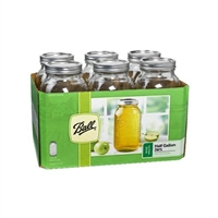 Ball 2 Quart Wide-Mouth Canning Jars, Case of 6