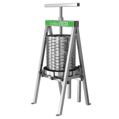 Harvest Fiesta Stainless Steel Fruit and Wine Press, 15L