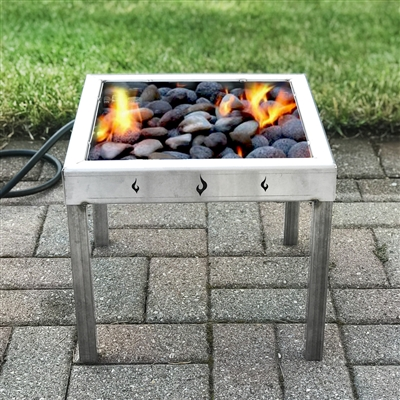 Portable Propane Fire Pit with Lava Rocks