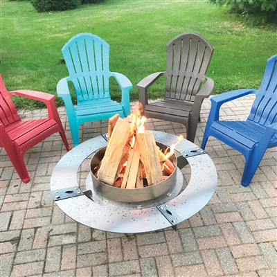 Wood Burning Fire Pit Table
