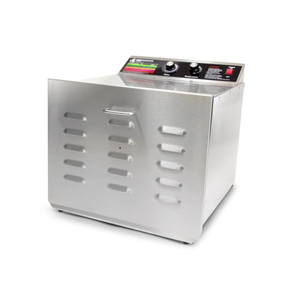 "D-10 Food Dehydrator with 3/4"" Stainless Steel Shelves"