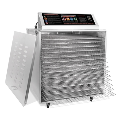 D-14 Digital Touch Screen Food Dehydrator with Chrome Shelves