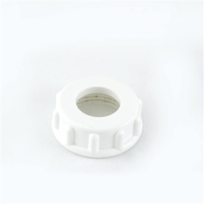 White Locknut for 5 lb. Deluxe Sausage Stuffer