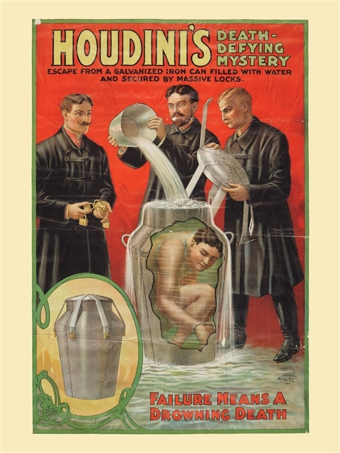 Houdini Milk Can Poster