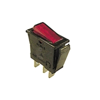 Rocker Switch On/Off - Red Illuminated