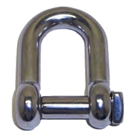 D Shackle Square Head - Stainless Steel