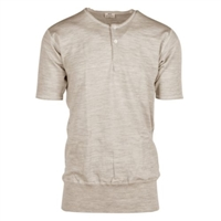 D23 100% Wool Button Front Short Sleeve
