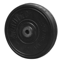 "Wheel Solid Rubber - 200mm (8"")"