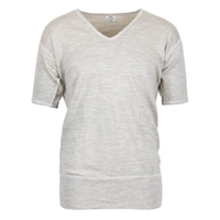 D23 100% Wool V Neck T Shirt