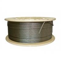 Stainless Steel Wire Grade 316, 3.2mm dia, 7 x 7, 305 metre roll